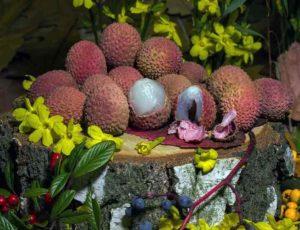 Этот фрукт имеет маленькие размеры и малиновый цвет