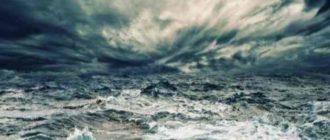 если приходящая волна идёт сплошной полосой